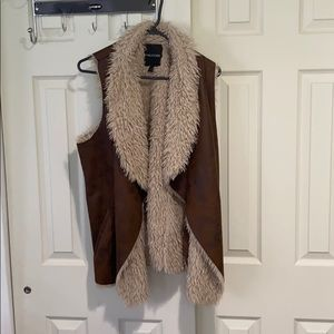 Beautiful fur lined vest from Maurices